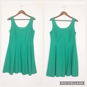Enfocus | S 14W Emerald Green A Line Skater Dress
